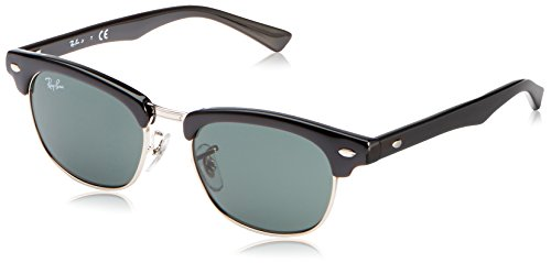 Ray-Ban Unisex-Child Clubmaster Junior Sunglass 0RJ9050S Square Sunglasses, black, 45 - Ray Kids Bans