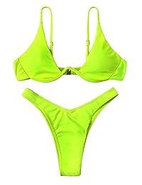 Verdusa - Conjunto de Bikini Sexy Triangular para Mujer, Dos Piezas