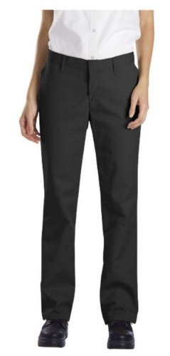 Dickies Occupational Workwear FP322BK16UU FP322 Women's Relaxed Fit Flat Front Pant, Size 16W 37