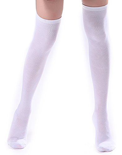 HDE Women's Knee High Stockings Solid Color Opaque Cotton Spandex Fashion Socks -