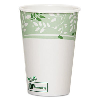Dixie 2346PLA EcoSmart Hot Cups, Paper w/PLA Lining, Viridian, 16oz (Case of 1000) by Georgia-Pacific
