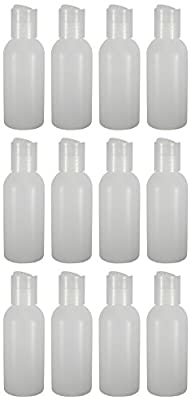 12 - Natural 2-ounce Bottles With Disc Caps