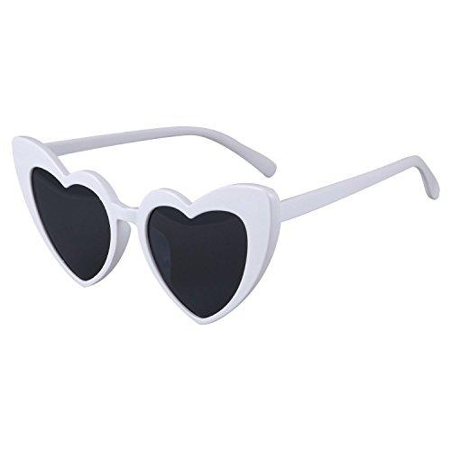 Gafas Blanco de corazones de moda de para mujer mujer de para S17070 Blanco corazon forma pequenos Gafas SODIAL de sol sol en Gafas dqaPdBA
