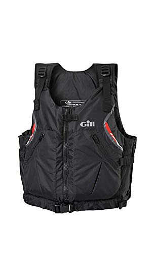 (Gill USCG Approved Front Zip PFD Buoyancy Life Vest, Black, S/M)