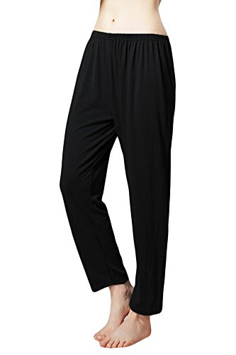 Cityoung Women's Pure Color Summer Pajama Bottom Pants/ Lounge Pants