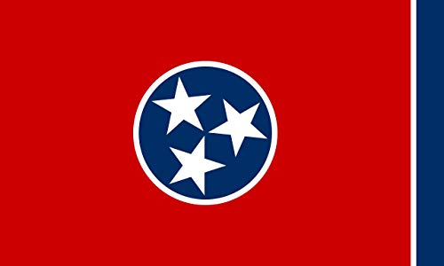 Tennessee State Flag (Winbee Tennessee State Flag 3x5 Ft with Double Sewn Stripes Embroidered, Long Lasting Nylon with Brass Grommets, UV Protected, Best 3 by 5 USA Tennessee Flag)