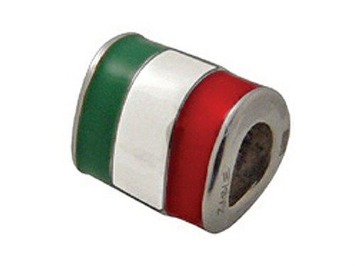 Zable Italy Enamel Flag Pandora Compatible Bead / Charm