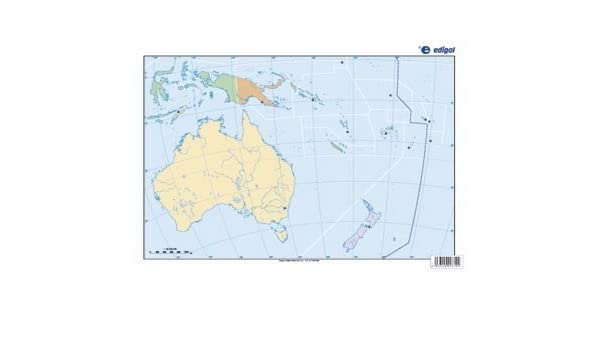 Mapa Oceania Fisico Mudo.Mapa De Oceania Politico S A Edigol Ediciones