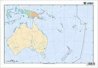 Mapa De Oceania Politico S A Edigol Ediciones 9788496999961