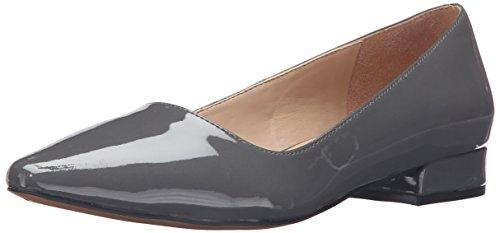 Franco Sarto Women's L-Saletha Pointed Toe Flat, Nimbus Grey, 9 M US (Franco Sarto Patent Leather Shoes)