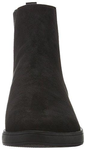 Bianco Damen Pointy Flatform JJA16 Chelsea Boots Schwarz (10/Black)