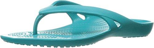 crocs Women's Kadee 2 Flip Flop, Turquoise, 4 M US