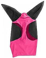 Häst ansikte Sköld Insekt Fine Mesh Fly Horse Mask med öron Armor Shield Fly Protector för häst / (röd) 19.69x31.50inch