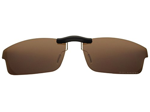 Custom Fit Polarized CLIP-ON Sunglasses For Oakley Crosslink OX8027 53X17 Brown by COODY