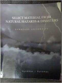 Select Material From Natural Hazards and Disasters -