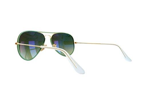 Ray-Ban - Lunette de soleil Aviator Full Color RB3025JM Aviator, Gold (001/3M 001/3M)