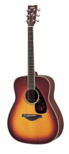 Yamaha FG720S Solid Top Acoustic Guitar - Mahogany, Brown Sunburst
