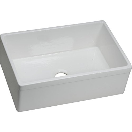 Elkay SWUF28179WH Fireclay Single Bowl Farmhouse Sink, White ()