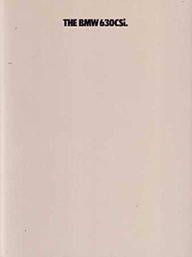 1977 BMW 630 Csi Sales Folder Literature Piece Brochure Advertisement Options (Bmw Brochure Sales)