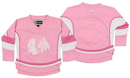 (Reebok NHL Infant Chicago Blackhawks Ice Hockey Blank, Pink/White,)