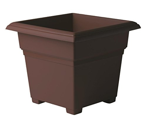 Novelty Countryside Square Tub Planter, Brown, 14-Inch