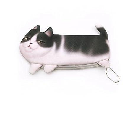 WRITIME 3D Gato gracioso estuche de poliéster bolsas lápices ...