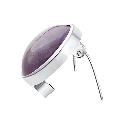 SENFAI Fashion Natural Stone Breastpin Multicolor Brooch Pin (Amethyst) (Brooches Stone Amethyst)