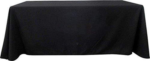 BANNER BUZZ MAKE IT VISIBLE Blank Full Color Table Covers & Throws 3-Sided, 100% Polyester Table Cover Cloth for Tradeshow, Exhibition (4' X 2.5', Black)