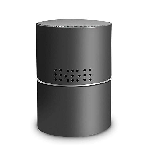RecorderGear BT500W 1080P WiFi Hidden Nanny Spy Camera Bluetooth Speaker with 330? Rotating Lens, Wireless Home Security Cam, Motion Activated, Wall and Battery Powered, App Control & Remote Viewing