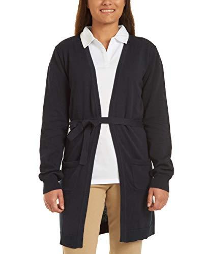 Nautica Juniors Uniform Wrap Cardigan Sweater, Navy, Medium(7/9)