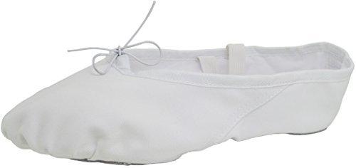 White Gold Ballet Slippers - 8