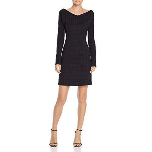 Theory Womens Houndstooth Print Dinner Party Mini Dress Navy -
