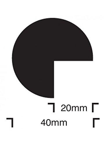 Caledonia Signs 59221 Aufprallschutzschild, halbrund, 40/40, selbstklebend