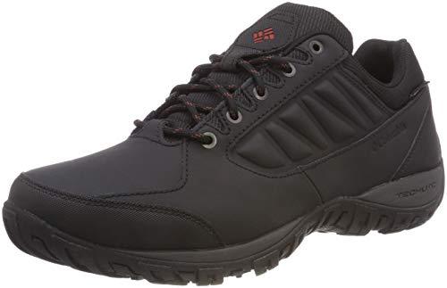 Columbia Ruckel Ridge Waterproof, Zapatillas de Senderismo para Hombre Negro (Black, Rusty 010)