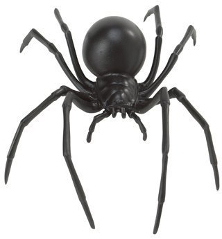 Large Black Widow Spider - Realistic Hand Painted Toy Figurine