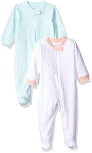 Amazon Essentials Baby Girls 2-Pack Sleep and Play, Uni Star, 6-9M