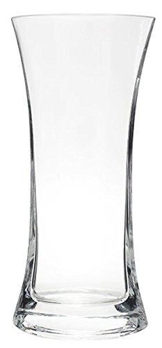 Flower Glass Vase Decorative Centerpiece For Home or Wedding by Royal Imports - Tall Pointed Oval Flared Shape (fits 1-dozen roses), 10