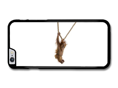 Monkey Puppy Orangutan Hanging on a Rope Funny coque pour iPhone 6 Plus 6S Plus