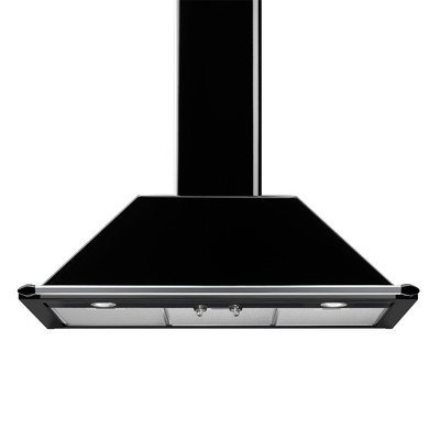 "Victoria 36"" 600 CFM Wall Mounted Range Hood Color: Black"