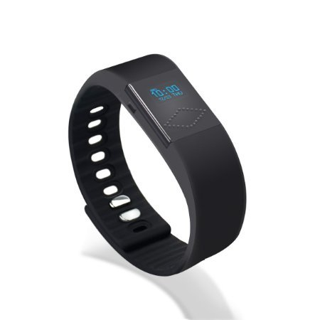 PLAY X STORE Bluetooth Smart Sports Bracelet Watch,Activity Monitors,Fitness Wristbands.Black.