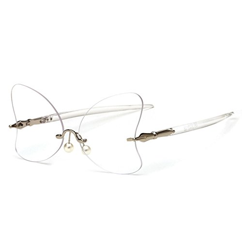 personalidad de de espejo rana para lentes de mujer sol marco irregular forma mariposa d RDJM Gafas con G la sin RT7qZ8