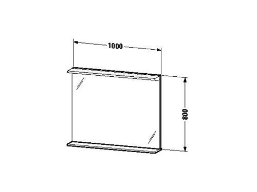 Duravit Spiegel mit Beleuchtung Darling New 170x1000x800mm, 1 Holzablage, azur, DN727702929
