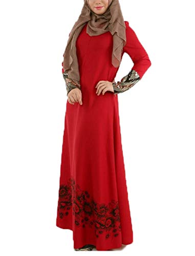 Hellomiko Musulmane La Longue Jupe des Femmes de Rouge