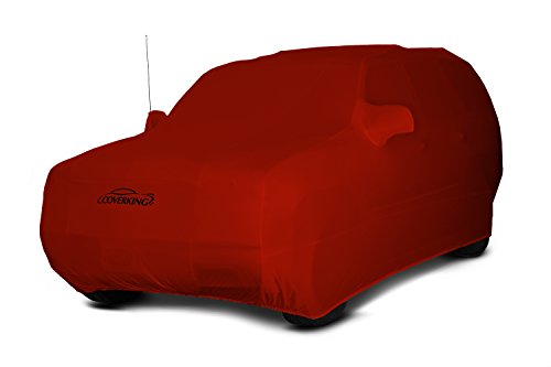 Coverking Custom Car Cover for Select Toyota Land Cruiser Models - Satin Stretch (Inferno Orange)