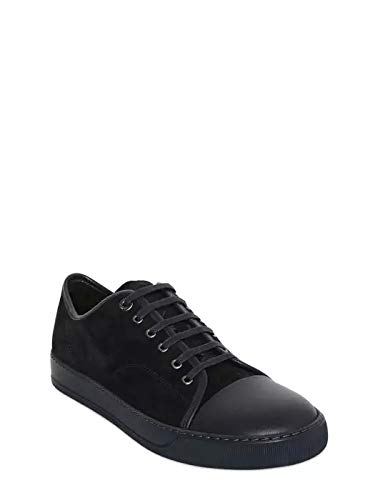 - Lanvin Leather Black Sneakers New Size 45