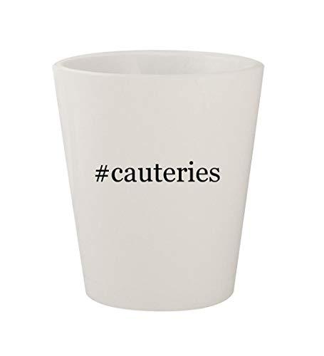 #cauteries - Ceramic White Hashtag 1.5oz Shot Glass