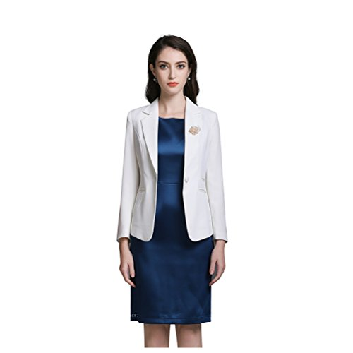 f49a6b3aaa outlet iCham Women s Formal Office Business Work Jacket Bodycon Dress Suit  Set
