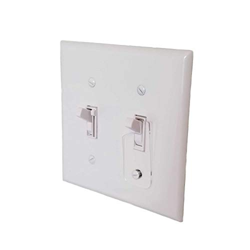 Toggle Switch Light Switch Guard Protectors, Child Safe, Residential, Sump, (Light Switch Lock)