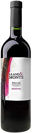 Vino Tinto Cosecha 2018 Llano & Monte, 14%, 0.75cl D.O. Bullas (Murcia)