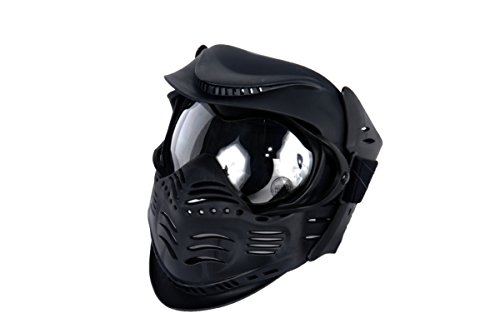 Lancer Tactical Airsoft Double Pane Lens Full Face Safety Mask - Black ()
